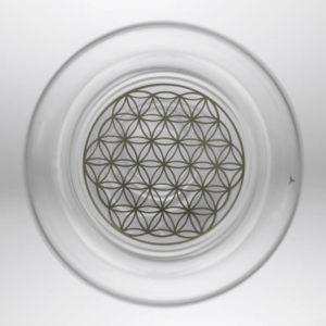 Feng-shui karafa na vitalizáciu vody s platinovým kvetom života