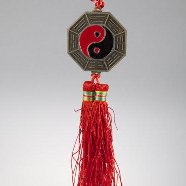 malé zrkadlo Bagua so znakom jing-jang
