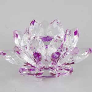 feng shui krištáľový kvet lotos fialový