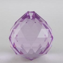 veľká fialová feng shui krištáľová kvapka