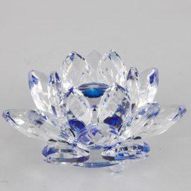Krištáľový kvet lotos, modrý