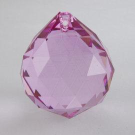 Krištáľová kvapka ružová, veľká, 5 cm