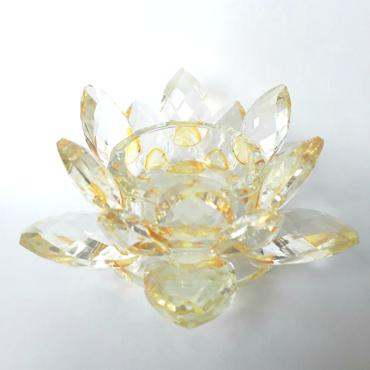 kristalovy kvet lotos zlty
