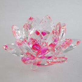 feng shui krištáľový kvet lotos ružový