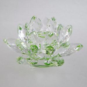 feng shui krištáľový kvet lotos zelený