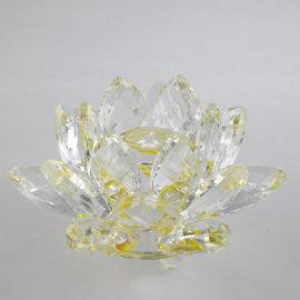 feng shui krištáľový kvet lotos žltý