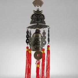 Zvonkohra so zvončekom šťastia a dvoma Budhami