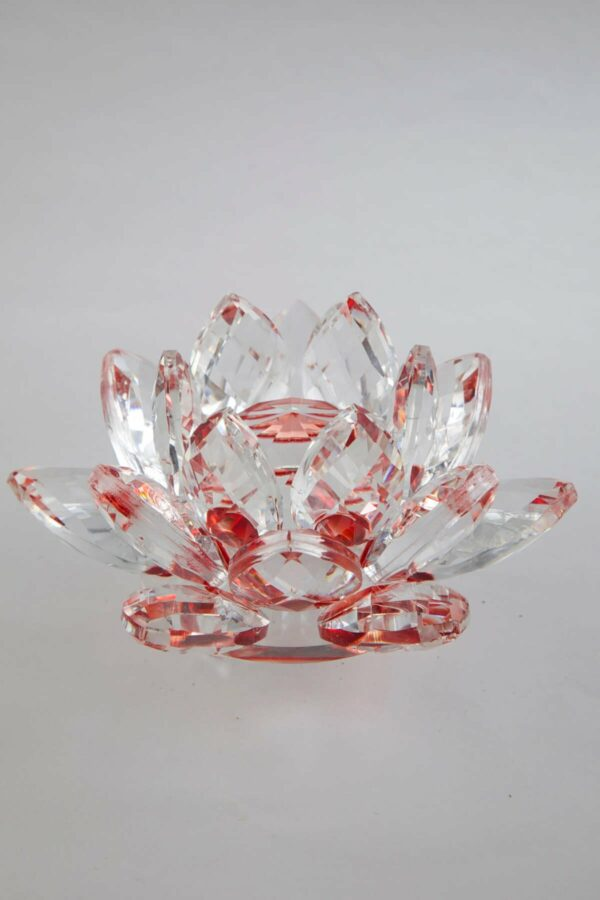 feng shui krištáľový kvet lotos červený