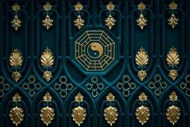 dvere s feng shui symbolmi