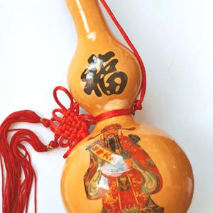Tekvica Wu Lou s obrázkom mocného ochrancu spravodlivosti