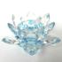 Krištáľový kvet lotos – svietnik modrý